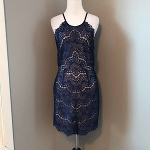 Dresses & Skirts - *NEW* NAVY BLUE LACE DRESS